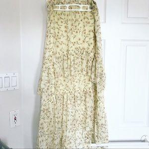 H&M Ruffle Floral Skirt